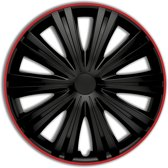 Autostyle Wieldoppen Giga 13 Inch Abs Zwart/rood Set Van 4