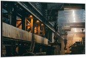 Dibond –Fabriekshal– 120x80 Foto op Aluminium (Wanddecoratie van metaal)