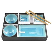 Tokyo Design Studio Glassy Turquoise Sushi Servies - 8 delig - 2 persoons
