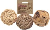 Trio Of Fun Balls - Knaagdierenspeelgoed - M - 8 c