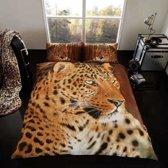 Luipaard 2 persoons dekbedovertrek 200 x 200 centimeter