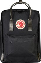 Fjallraven Kanken Rugzak - 16 liter - Black / Striped