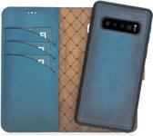 Bouletta Afneembare 2-in-1 Magneet Leren BookCase Hoesje Samsung Galaxy S10 - Dark Blue