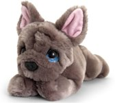 Keel Toys pluche Franse bulldog grijs honden knuffel 25 cm - Honden knuffeldieren - Speelgoed voor kind