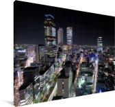 De havenstad Nagoya in het Aziatische Japan Canvas 60x40 cm - Foto print op Canvas schilderij (Wanddecoratie woonkamer / slaapkamer)