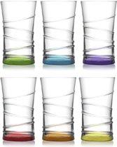 Lav Gekleurde Longdrinkglazen - 310 ml - 6 stuks