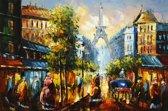 Schilderij Parijs abstract 90x60 Artello - Handgeschilderd