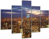 Glasschilderij Steden | Grijs, Blauw, Bruin | 100x70cm 5Luik | Foto print op Glas |  F002834