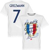 Frankrijk Champion Du Monde Griezmann T-Shirt - Wit  - L