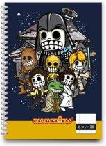 Calaveritas - Space warriors notebook A5