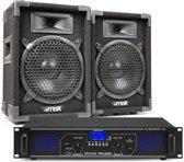 DJ geluidsinstallatie met Bluetooth - MAX8 DJ luidsprekers + Bluetooth versterker combinatie - 800W