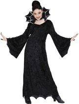 Heks & Spider Lady & Voodoo & Duistere Religie Kostuum | Spiderella Kind | Meisje | Maat 140 | Halloween | Verkleedkleding