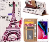 Xssive Hoesje Voor Apple iPhone 6 of Apple iPhone 6S Boek hoesje - Book Case Eiffeltoren Big Ben