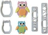 FMM Mummy & Baby Owl Cutter Set/4
