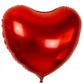 XL folieballon HART rood