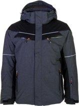 Icepeak Cain Ski Jas  Wintersportjas - Maat 52  - Mannen - grijs/zwart