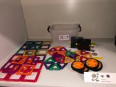Magnetische bouwblokken set 55 stuks in opbergbox.   Diamond Block, alleen bij Quality Time Shop. Stapelblokken voor 3d bouwen middels gemonteerde magneetjes.