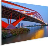 Foshan Dongping brug in de Chinese stad Plexiglas 180x120 cm - Foto print op Glas (Plexiglas wanddecoratie) XXL / Groot formaat!