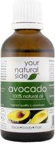 Your Natural Side Avocado Oil (Unrefined) 50ml. Pipette