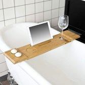 Bamboe badrekje voor de tablet of telefoon   glashouder