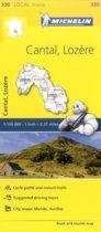 Cantal, Lozire - Michelin Local Map 330