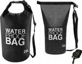 Waterproof Dry Bag Sack - Waterdichte Zak Tas - Reistas Schoudertas Survival Outdoor Rugzak - 20L Zwart