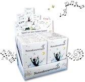 Notenkwartetspel, 12 stuks in displaydoos