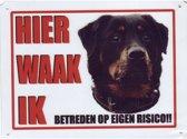 Waakbord Alu Rottweiler met halsband