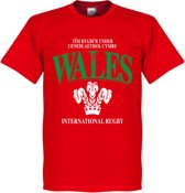 Wales Rugby T-Shirt - Rood - Kinderen - 4