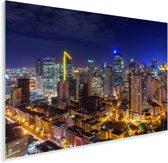Prachtige afbeelding van Manila in de nacht Plexiglas 180x120 cm - Foto print op Glas (Plexiglas wanddecoratie) XXL / Groot formaat!
