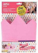 Apli Kids schuimrubber verjaardagskroon roze