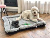 Meisterpet hondenbed/hondenmand Grijs/ Zwart XL (100*70*15 cm) W04