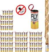 relaxdays 96 x vliegenvanger - plakstrip - vliegenstrip - kleefband - vliegenval