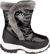 Winter-grip Snowboots Junior Lak Bont Zwart / Grijs Maat 33