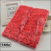 144x Mini foam rozen 2cm rood