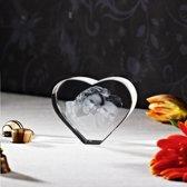 3D Foto in hoogwaardig kristalglas Hart