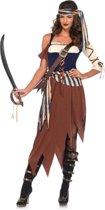 Caribbean Castaway Pirate kostuum - S - Multicolours - Leg Avenue