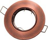 LED line Inbouwspot - Rond - Kantelbaar - GU10 Fitting - Ø 92 mm - Brons