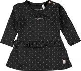 Bampidano Meisjes jurken Bampidano Baby Girls dress allover print A-lin antraciet 74