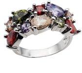Art-Ajoure 925 Sterling zilver plate ring met stenen 16mm