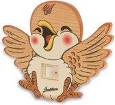 Houten nacht lamp vrolijke vogel | Bartolucci