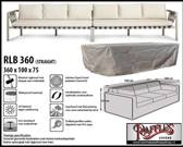 RB360 Hoes voor loungebank XXL 360 x 100 H: 75 cm taupe.