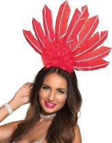 Rode Braziliaanse haarband voor vrouwen - Verkleedattribuut