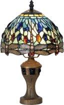 Lampje met tiffanykapje dragonfly 33xÃ?21cm 1x E14 max 40w.