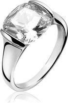 ZINZI zilveren ring wit ZIR1021