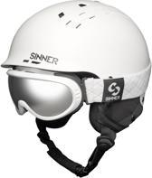 Sinner Combi-Pack (Pincher Skihelm + Runner II Skibril - Maat L - Wit