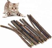 Matatabi stokjes/sticks voor katten - 15 stuks - Kattenkruid effect - Houdt katten rustig/ontspannen en afgeleid - Handig tijdens bijv. Oud & Nieuw of andere feestjes - Volledig natuurlijk - Gebitsverzorging