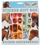 Sticker gift box paarden