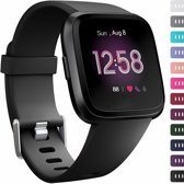 123Watches.nl Fitbit Versa (Lite) sport band - zwart - SM