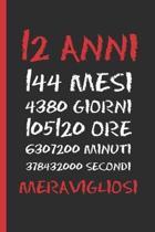 12 Anni Meravigliosi: Regalo di compleanno originale e divertente - Diario, quaderno degli appunti, taccuino o agenda - Dodici Anni.